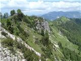 Iz Robanovega Kota čez Črni Hriber na KrofičkoMolznik, Strelovec