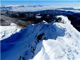 Viševnikpot ob grebenu proti vrhu Viševnika