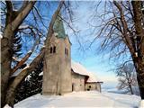 Osolnik 858mCerkev svetega Mohorja in Fortunata na Osolniku