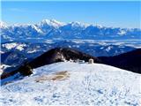 Blegošlep pogled proti Kočni in ostalim vrhovom