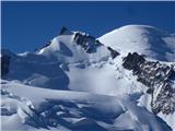 Mont Blanc / Monte BiancoMont Blanc du Tacul(4248m),  Mont Maudit(4465m), Mont Blanc(4810m)
