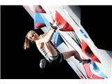 Garnbretova serijska svetovna prvakinjaVita Lukan v svojem prvem finalu SP do sedmega mesta (foto Manca Ogrin).