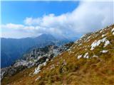 Jerebica /Cima del Lagoproti vrhu
