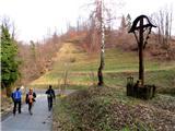 Boč - Donačka goratu prečkamo glavno cesto Majšperk - Rogatec