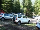 Parkirišče na Pl. Blato (rampa na stežaj odprta, seveda)