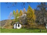 Sv. Primož nad Kamnikom8-kotna kapela in sv. Peter skozi macesne