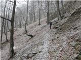 Velika planinaNa poti čez Kuklarje je pričelo rahlo snežiti.