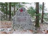 Gorska obeležja NOBpartizanski spomenik ob poti