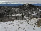 RatitovecKosmati vrh z grebenske poti na Ratitovec