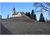 Znamenja (križi in kapelice) na planinskih potehCerkev Sv. Treh Kraljev na vrhu tega vrha.