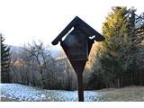 Znamenja (križi in kapelice) na planinskih potehŠe en križ.