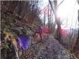 Žamboh (738 m)mesto ob poti - za na greben Špeglovca, običajno tu stoji velik možic