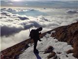 Krnpot za dol v snegu