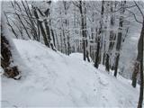 Kamnik ( 861m )...in po grebenu strmo do...
