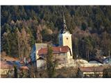 Znamenja (križi in kapelice) na planinskih potehCerkev Marijino Vnebovzetje v Čemšeniku.