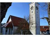 Znamenja (križi in kapelice) na planinskih potehZanimivo je ,da stoji zvonik poleg cerkve.