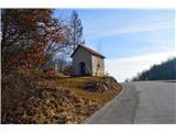 Znamenja (križi in kapelice) na planinskih potehKapelica v vasi Ajdovec.