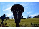 Znamenja (križi in kapelice) na planinskih potehKriž na poti iz Golobinjeka.