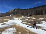 Velika planinaKisovec že skoraj kopen.