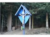 Znamenja (križi in kapelice) na planinskih potehPod cerkvijo Sv. Treh kraljev.