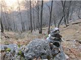 Velika planinaNovopečeni možic pod Kuklarji.