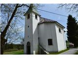 Znamenja (križi in kapelice) na planinskih potehCerkev Sv. Roka v vasi Ravnik.
