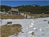 Dleskovec 1965 mproti njej, tu sva prvič stopila na sneg