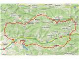 Rokovnjaška planinska potGPS sled prehojene poti