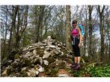 Čemšeniška planina - KrvavicaČrni vrh, najvišja točka grebena