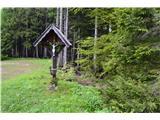 Znamenja (križi in kapelice) na planinskih potehKriž polek te kapelice.