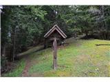 Znamenja (križi in kapelice) na planinskih potehŠe križ polek cervkice.