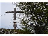 Znamenja (križi in kapelice) na planinskih potehKriž na vrhu Macne .