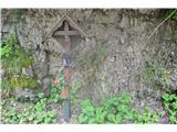 Znamenja (križi in kapelice) na planinskih potehNa poti nazaj v Borovlje -ob cesti.