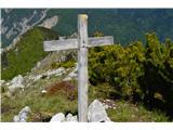 Znamenja (križi in kapelice) na planinskih potehKriž na gori Vualt-1752m.