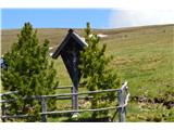 Znamenja (križi in kapelice) na planinskih potehKriž na pašniku.