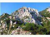 Begunjščica - V greben...v sedelce na levi pripelje lažja pot...
