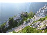 Begunjščica - V greben...v sedelce me je ob prvem raziskovanju pripeljala gruščnata grapa...