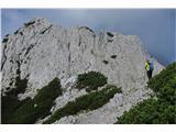 Begunjščica - V greben...dvojna stolpa...