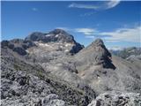 Vrbanove špice2019.08.10.155 Triglav in Begunjski vrh z Vrbanove špice