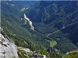 Krofička (2083m)pogled v Robanov kot z vrha