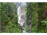 Slovenski slapovi vodotokov Prišli smo do prvega slapu.