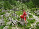 Visoka Vrbanova špicatu se odcepi pot na Bohinjska vratca