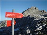 Visoka Vrbanova špicapa sva šla proti vrhu, zadaj Begunjski vrh