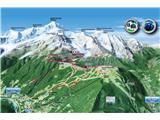 Mont Blanc / Monte BiancoSmer vzpona preko koče Gouter