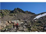 Mont Blanc / Monte BiancoTeren je kamnit, skale so vulkanskega izvora, daleč od lepote naših Alp