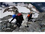 Mont Blanc / Monte BiancoPočasi pridobivamo višino, ampak hitro izgubljamo moči