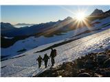 Mont Blanc / Monte BiancoPrvo jutranjo sonce