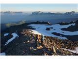 Mont Blanc / Monte BiancoŽe smo v kopmnem delu grebena
