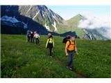 Mont Blanc / Monte BiancoIz belega v zeleno