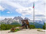 DolomitiOpomin na morijo - top op Rifugio Bosi
